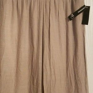 NWT New Directions Women's Ladies Wide Leg Sand